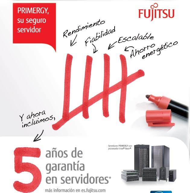 Fujitsu ofrece 5 años de garantía en sus servidores PRIMERGY