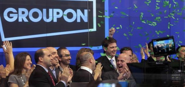 Las acciones de Groupon caen por la presión de sus rivales
