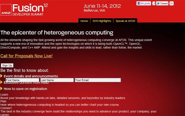 AMD anuncia la cumbre Fusión 2012 para desarrolladores