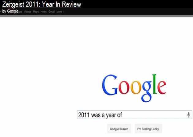 Google presenta Zeitgeist 2011 con las búsquedas más relevantes