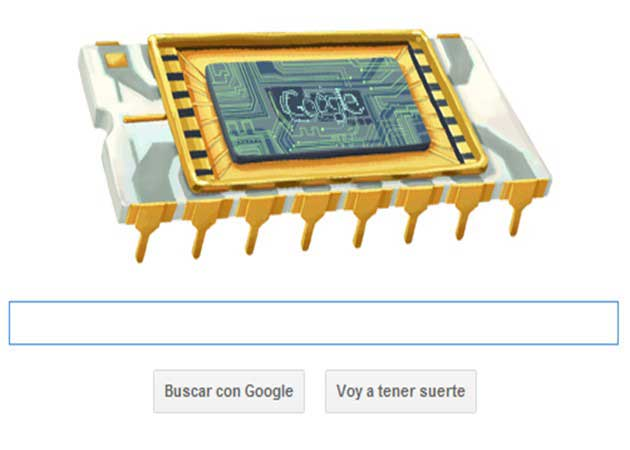 Google homenajea a Robert Noyce, inventor del circuito integrado y co-fundador de Intel