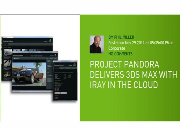 3ds Max desde un smartphone gracias al clúster GPU en nube 'Pandora'