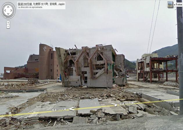 Google muestra en Street View la devastación del tsunami japonés de marzo