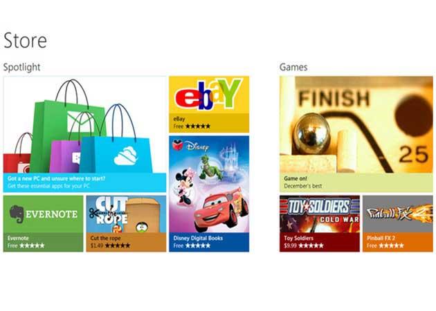 Microsoft muestra la tienda de aplicaciones para Windows 8