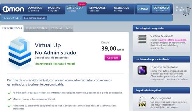 CDmon lanza el servidor 'flexible' Virtual Up