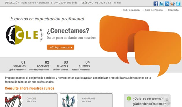 CLEFormación presenta su nuevo catálogo de cursos de formación para 2012