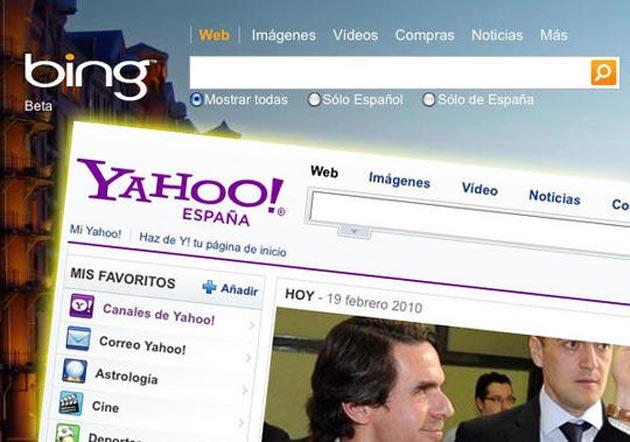 Yahoo!, por detrás de Bing