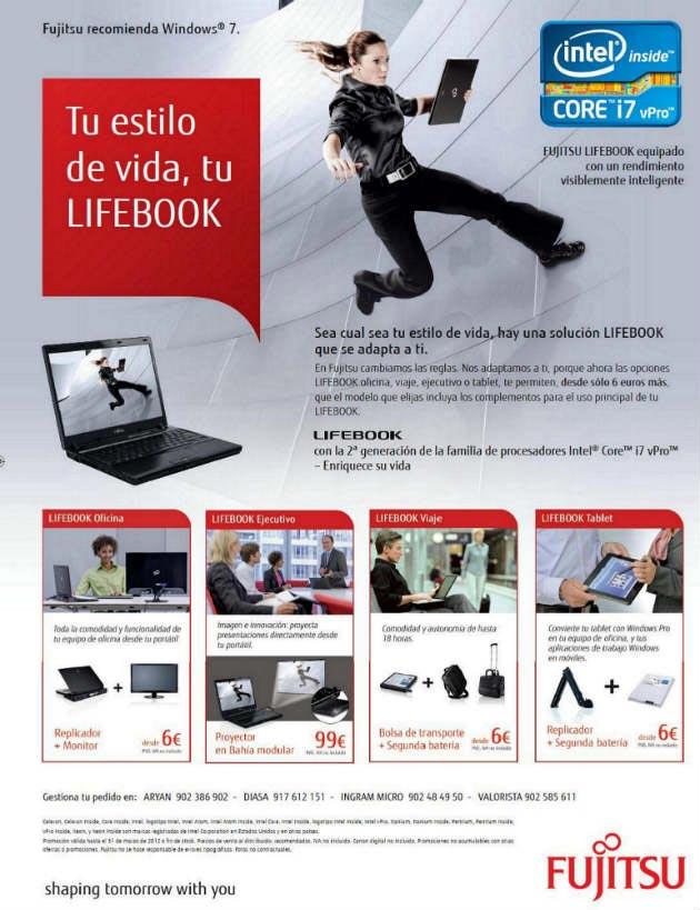 """Fujitsu lanza al canal la campaña: """"Tu estilo de vida, tu LIFEBOOK"""""""