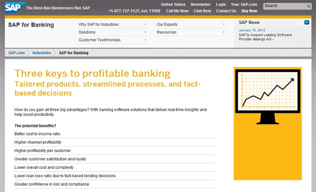 SAP for banking