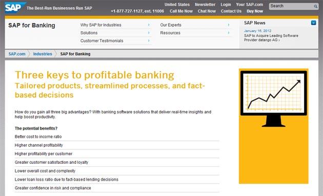 SAP, líder en soluciones para banca minorista internacional, según Gartner