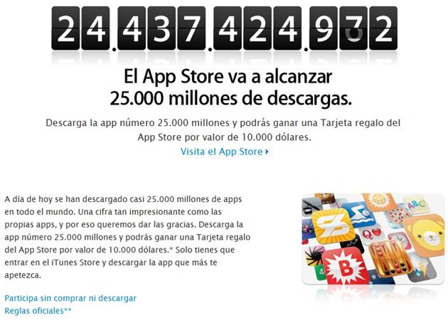 Apple Store se encamina a las 25.000 millones de descargas