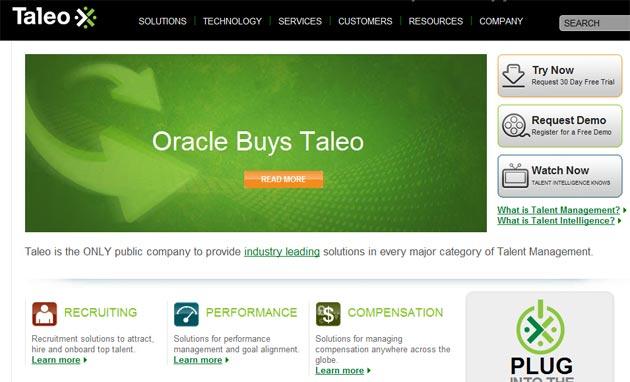 Oracle adquiere Taleo por 1.900 millones de dólares
