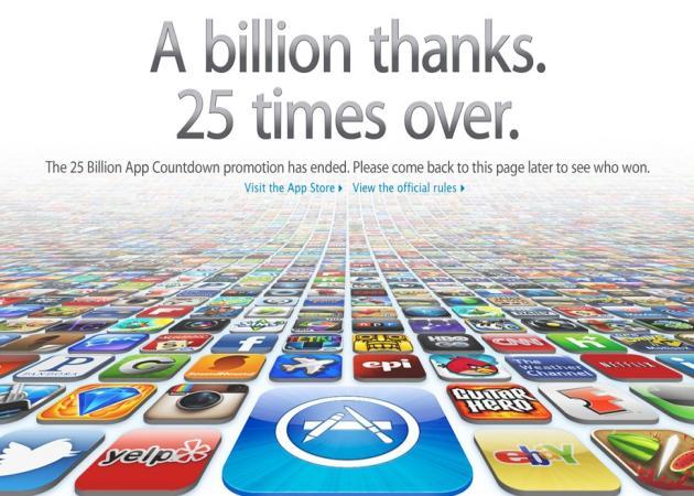 La App Store ya ha alcanzado los 25.000 millones de descargas