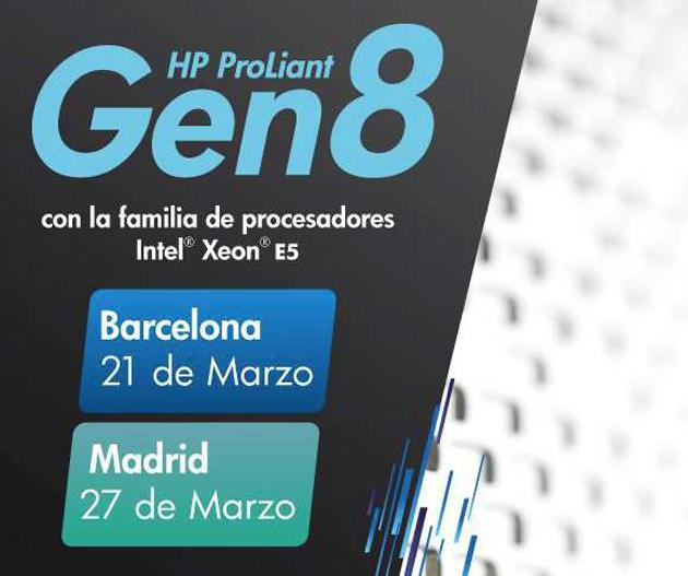 HP presentará los ProLiant Gen8 en Madrid y Barcelona