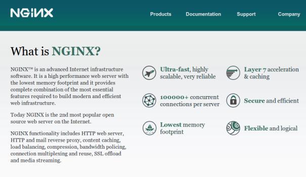 Nginx ya está en más del 25% de sitios del 'top 1.000'