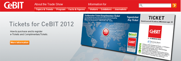 El CeBIT 2012 abre sus puertas el próximo martes, 6 de marzo