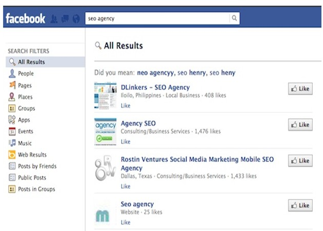 Facebook está desarrollando su propio buscador