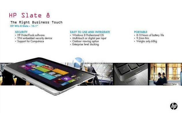 Así será el nuevo tablet profesional HP Slate con Windows 8
