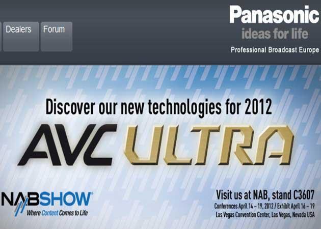 Novedades Panasonic en la conferencia NABShow 2012