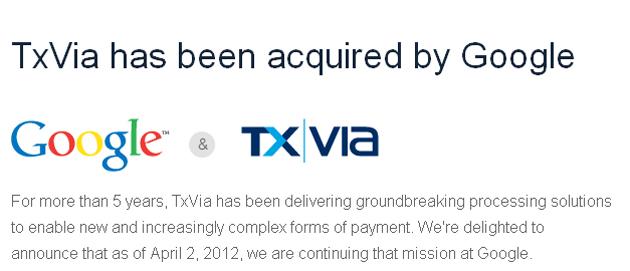 Google compra TxVia, compañía tecnológica de pagos