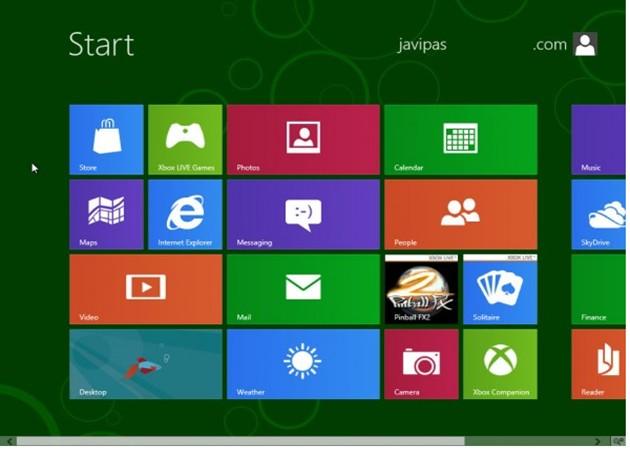 Primer vistazo al cliente corporativo Windows 8 Enterprise
