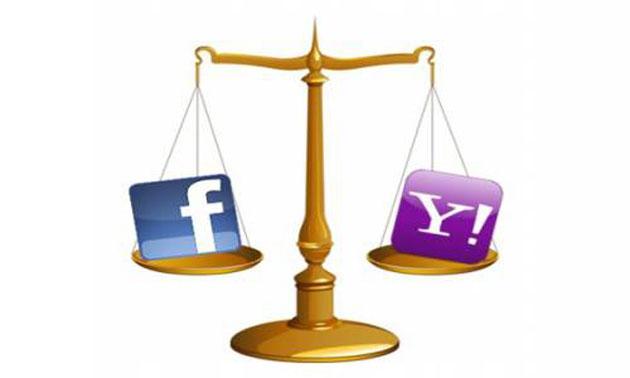 Facebook paga a Yahoo! con la misma moneda