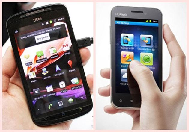 La estrategia de ZTE y Huawei se dirige a los smartphones de alta gama