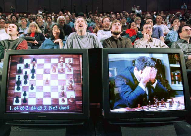 IBM celebra la victoria de Deep Blue contra Kaspárov