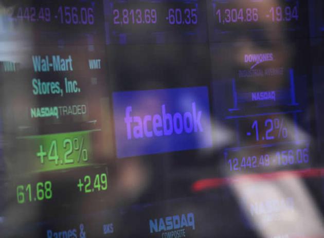 Las acciones de Facebook caen un 12% en su segundo día en Nasdaq