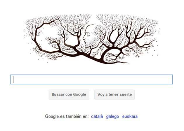 Google homenajea con un doodle a Ramón y Cajal