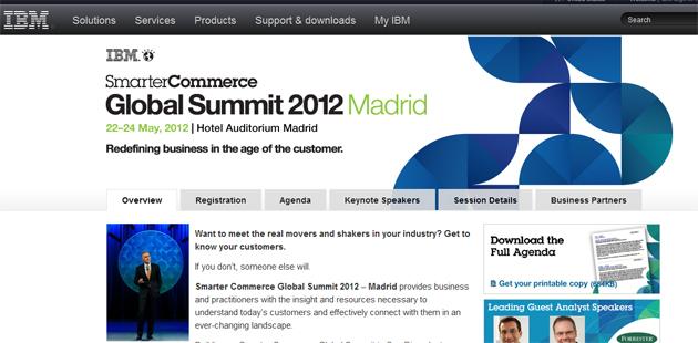 IBM Smarter Commerce Global Summit 2012 se celebrará en Madrid