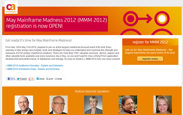 Nueva edición May Mainframe Madness 2012 de CA Technologies