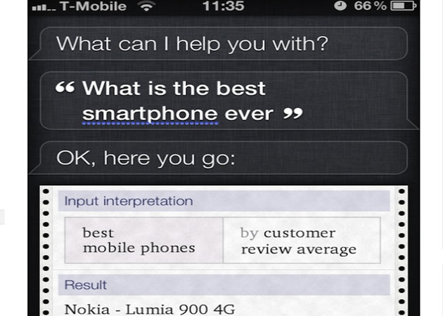 Nokia acusa a Apple de falsificar los resultados de Siri