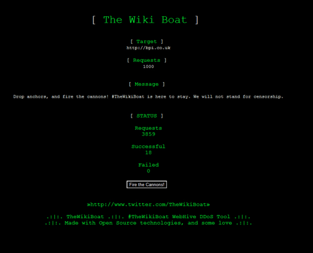 The Wiki Boat DDoS