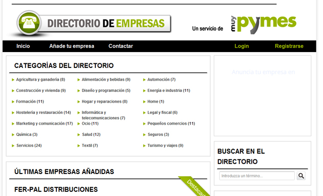 Guia directorio buscador de empresas y for Listado de empresas malaguenas