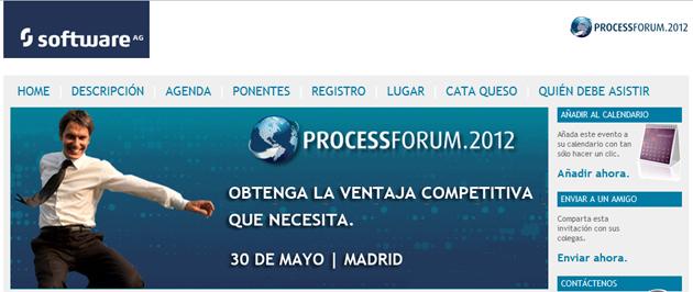Asiste al Process Forum 2012 de Software AG y participa en el sorteo de un iPad