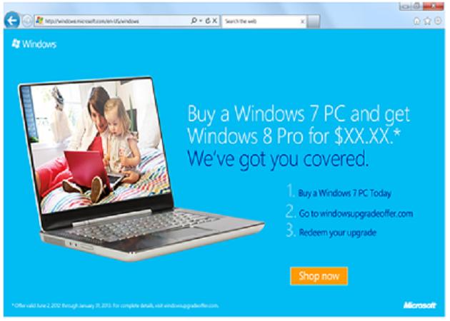 Microsoft desarrolla un programa de actualización para Windows 8