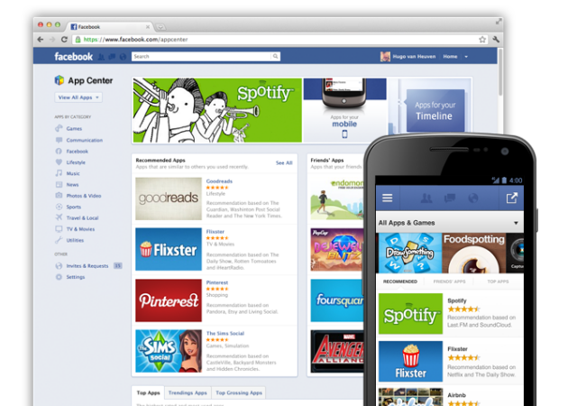 Facebook App Center inicia su andadura
