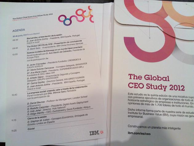 """IBM presenta su CEO Study: """"Liderar en un mundo hiperconectado"""""""