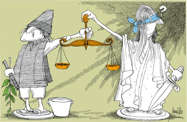 La justicia por la mano