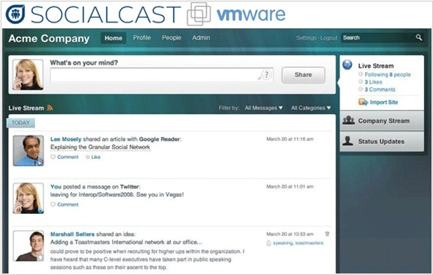 Socialcast, de VMware: servicio gratuito para la creación de redes sociales corporativas