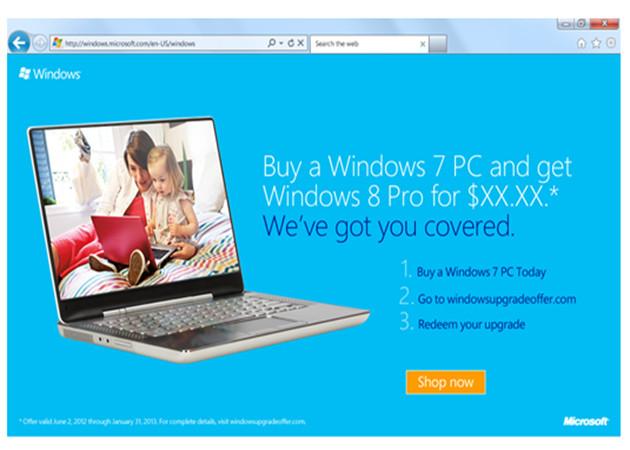 Microsoft lanza programa de actualización Windows 8 Pro Upgrade