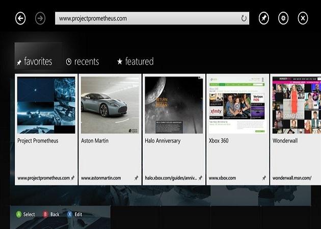 Microsoft confirma que Internet Explorer estará disponible para la Xbox