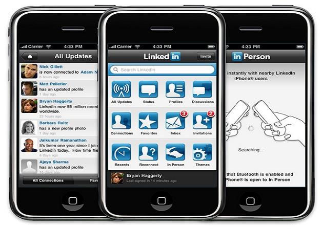 LinkedIn para iOS transmite información de los usuarios sin que lo sepan