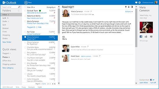 Outlook.com 2 Microsoft presenta el nuevo webmail Outlook.com