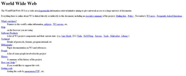 La primera página web de la historia tiene 21 años