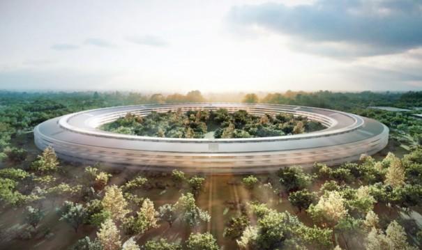 Más imágenes del súper campus de Apple