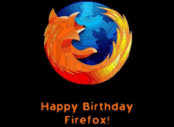 Décimo aniversario del navegador web Mozilla Firefox