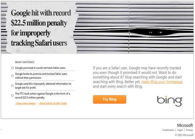 Bing, a por los usuarios de Safari