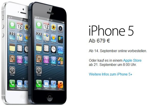 El iPhone 5 más barato costará 679 euros en Europa